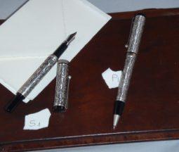 set calligrafia peltro