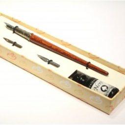 set calligrafia legno